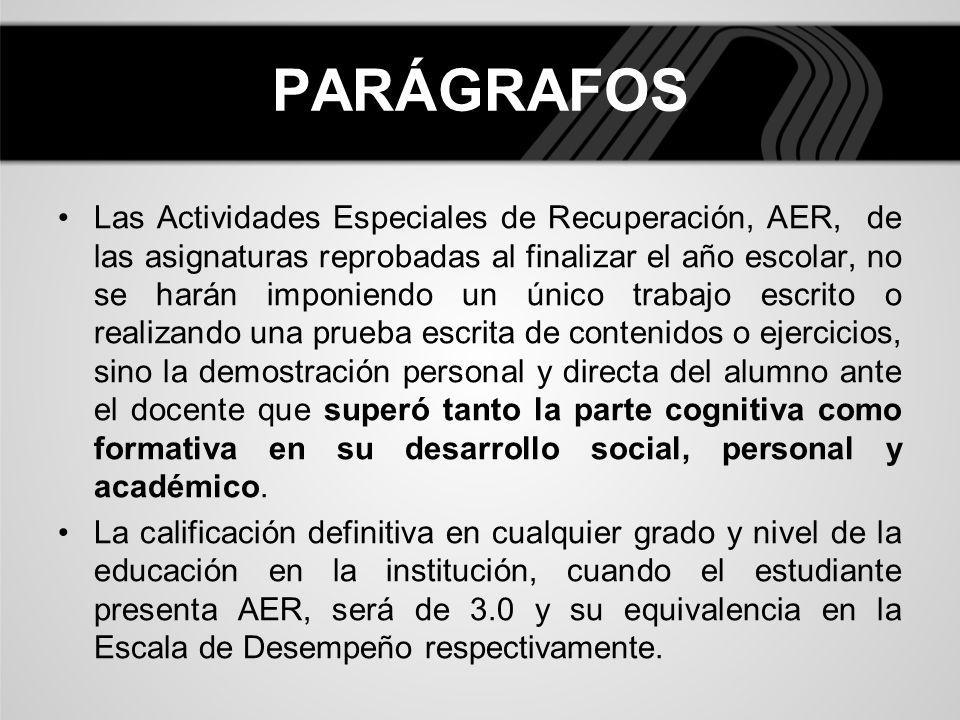PARÁGRAFOS