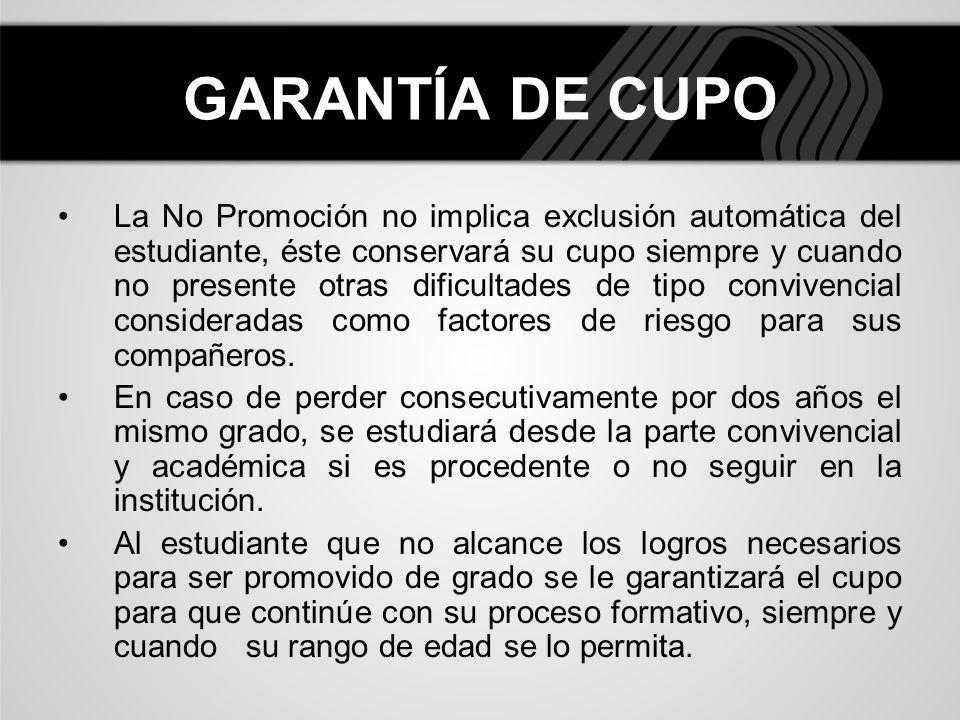 GARANTÍA DE CUPO