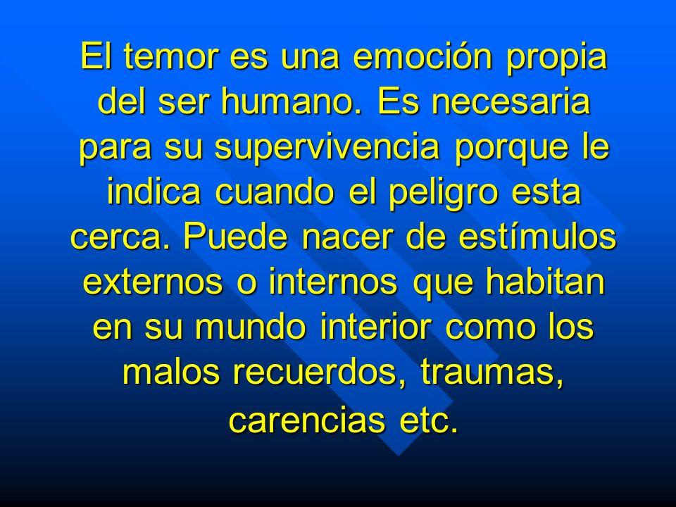 El temor es una emoción propia del ser humano