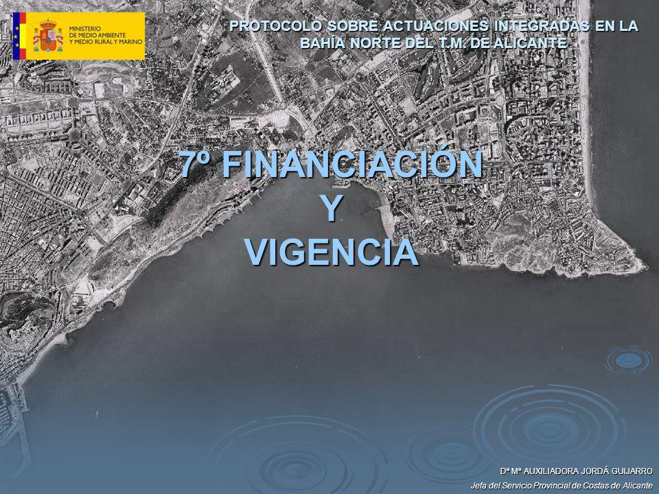 7º FINANCIACIÓN Y VIGENCIA