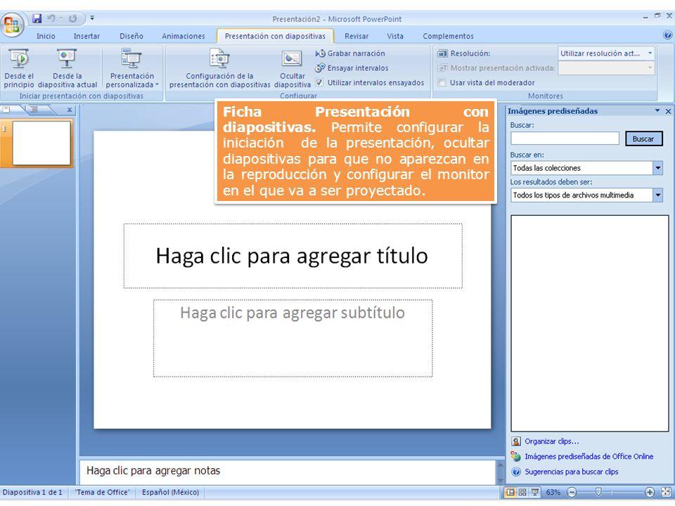 Ficha Presentación con diapositivas