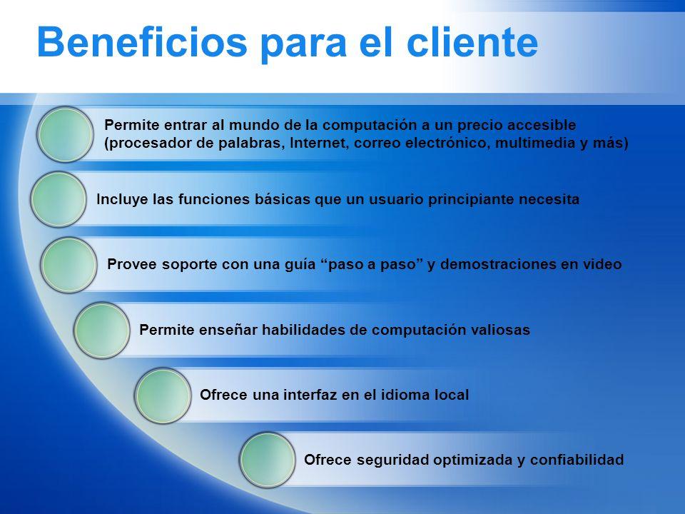 Beneficios para el cliente