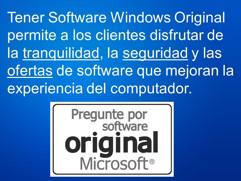 Tener Software Windows Original permite a los clientes disfrutar de la tranquilidad, la seguridad y las ofertas de software que mejoran la experiencia del computador.