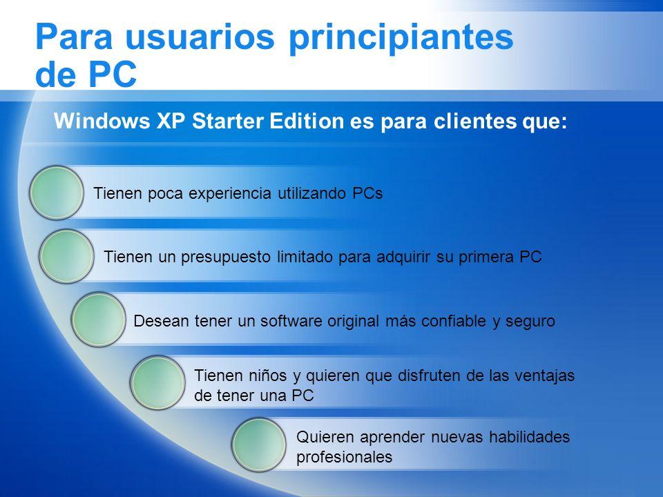 Para usuarios principiantes de PC