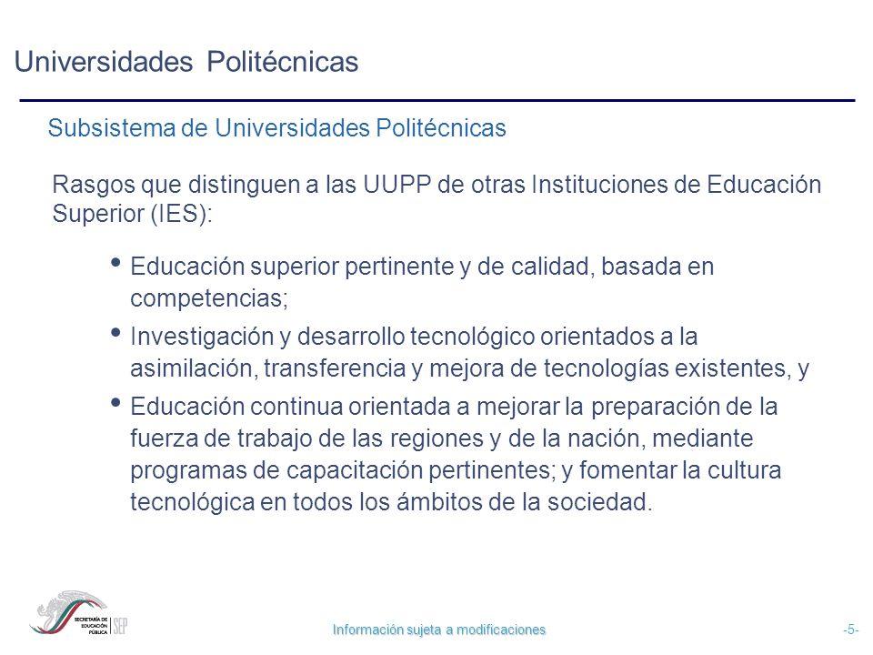 Universidades Politécnicas
