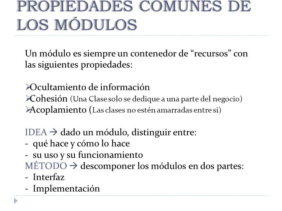 PROPIEDADES COMUNES DE LOS MÓDULOS