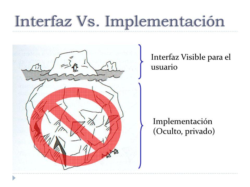 Interfaz Vs. Implementación