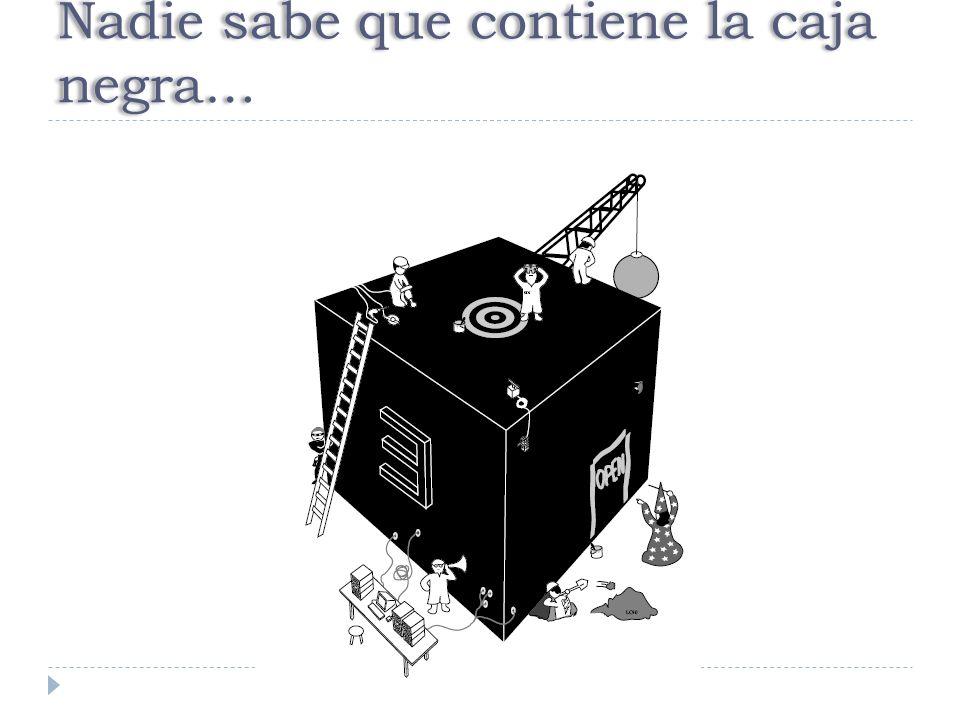 Nadie sabe que contiene la caja negra…