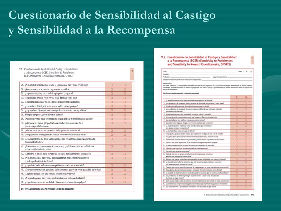 Cuestionario de Sensibilidad al Castigo y Sensibilidad a la Recompensa