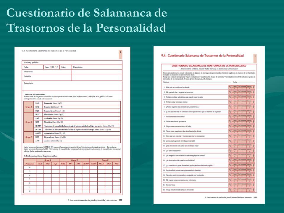Cuestionario de Salamanca de Trastornos de la Personalidad