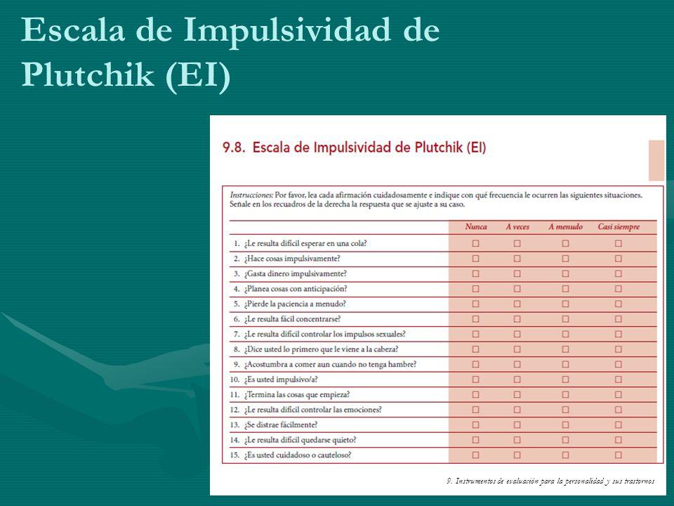 Escala de Impulsividad de Plutchik (EI)