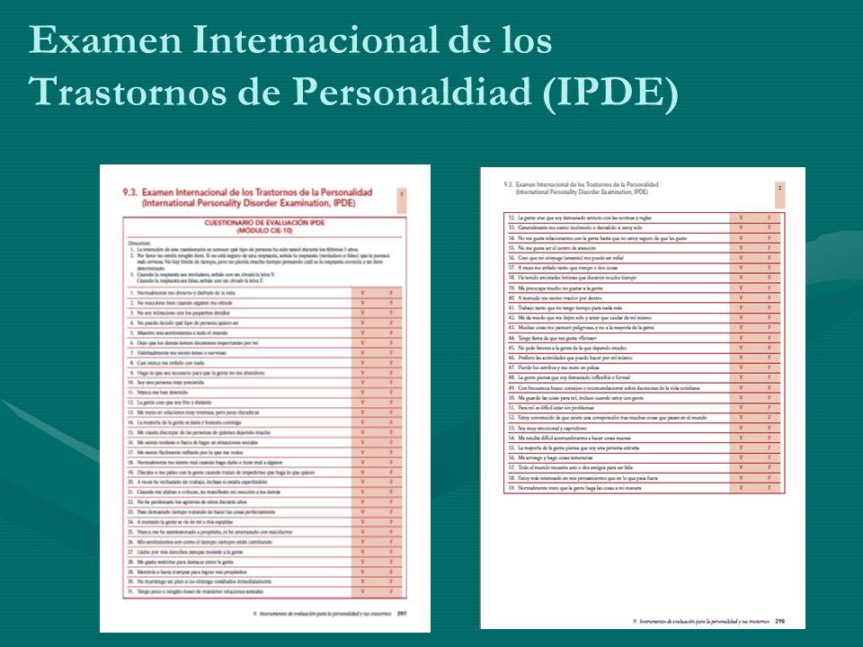 Examen Internacional de los Trastornos de Personaldiad (IPDE)