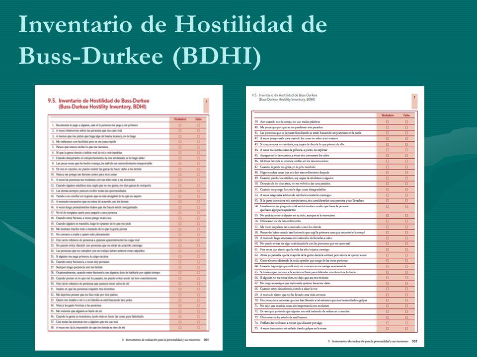 Inventario de Hostilidad de Buss-Durkee (BDHI)