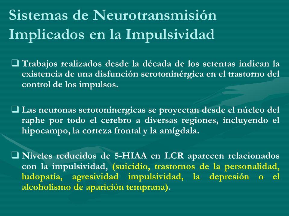 Sistemas de Neurotransmisión Implicados en la Impulsividad