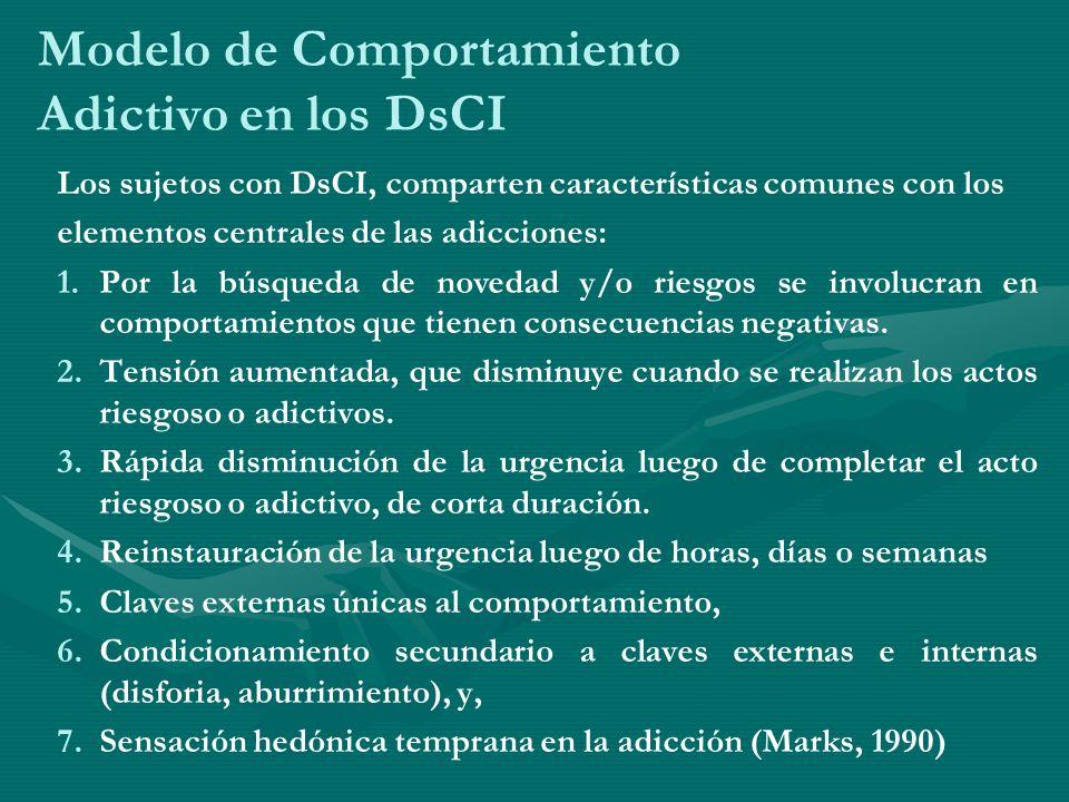 Modelo de Comportamiento Adictivo en los DsCI