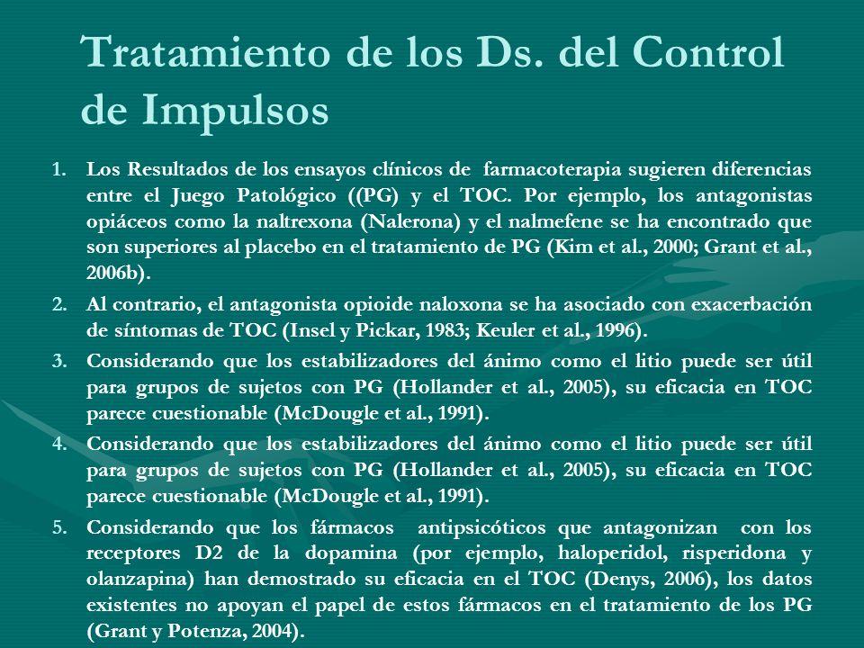 Tratamiento de los Ds. del Control de Impulsos