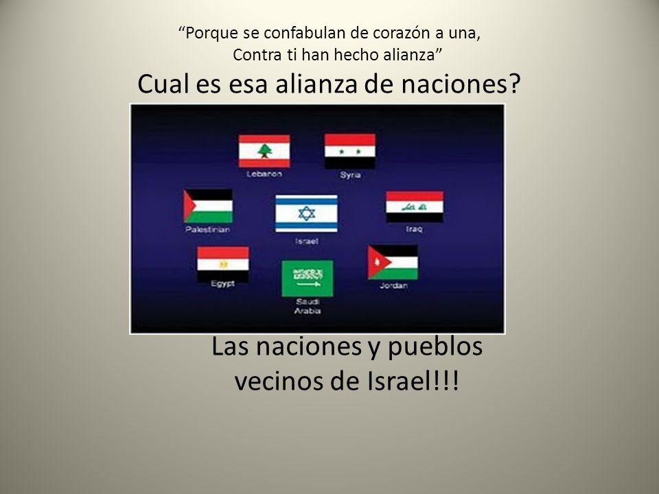 Las naciones y pueblos vecinos de Israel!!!