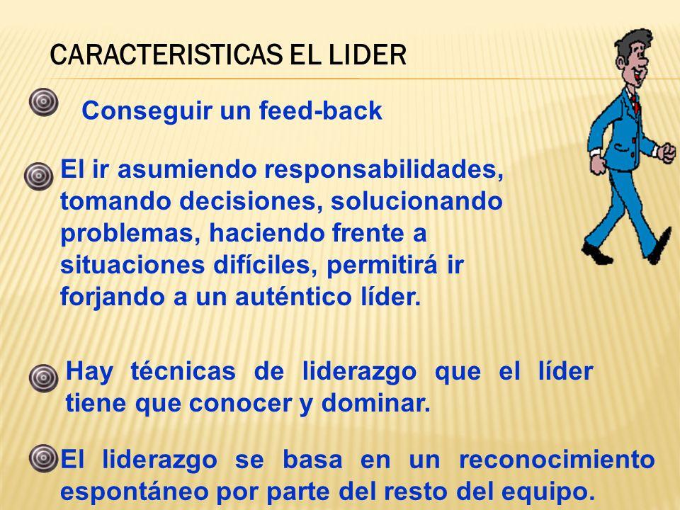 CARACTERISTICAS EL LIDER