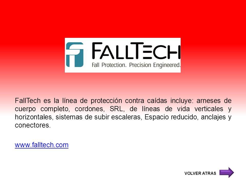 FallTech es la línea de protección contra caídas incluye: arneses de cuerpo completo, cordones, SRL, de líneas de vida verticales y horizontales, sistemas de subir escaleras, Espacio reducido, anclajes y conectores. www.falltech.com