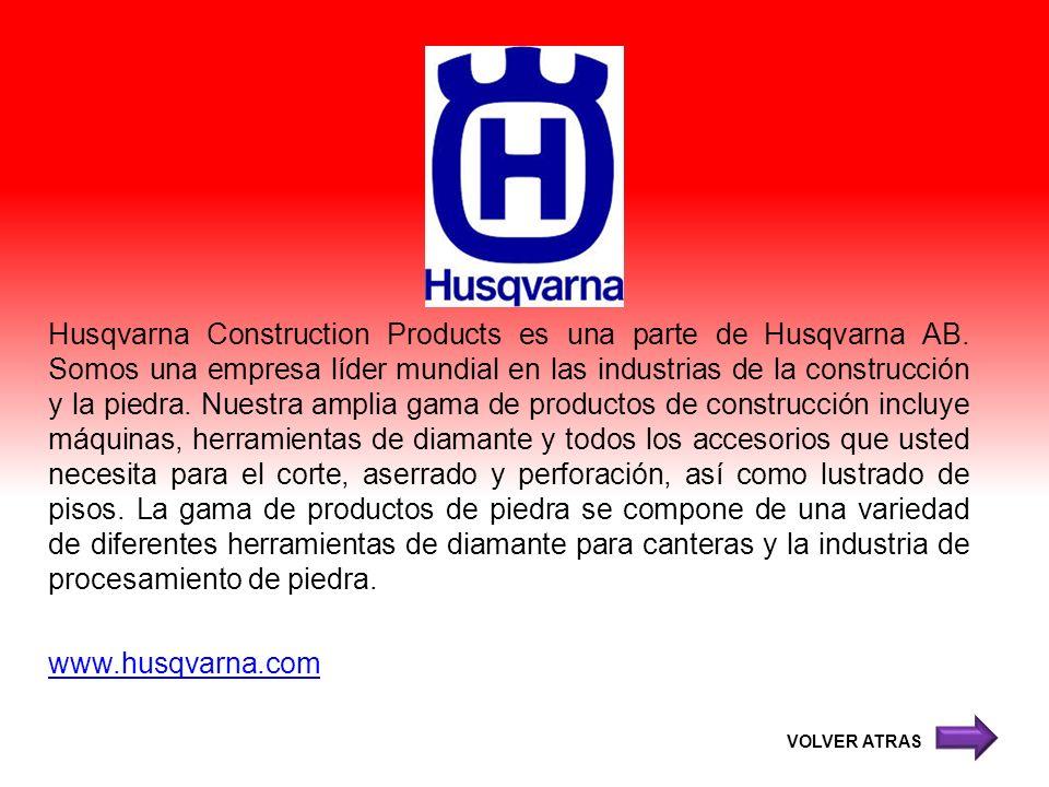 Husqvarna Construction Products es una parte de Husqvarna AB
