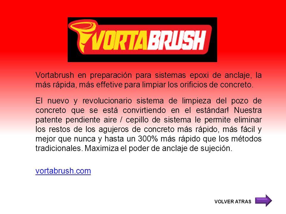 Vortabrush en preparación para sistemas epoxi de anclaje, la más rápida, más effetive para limpiar los orificios de concreto.