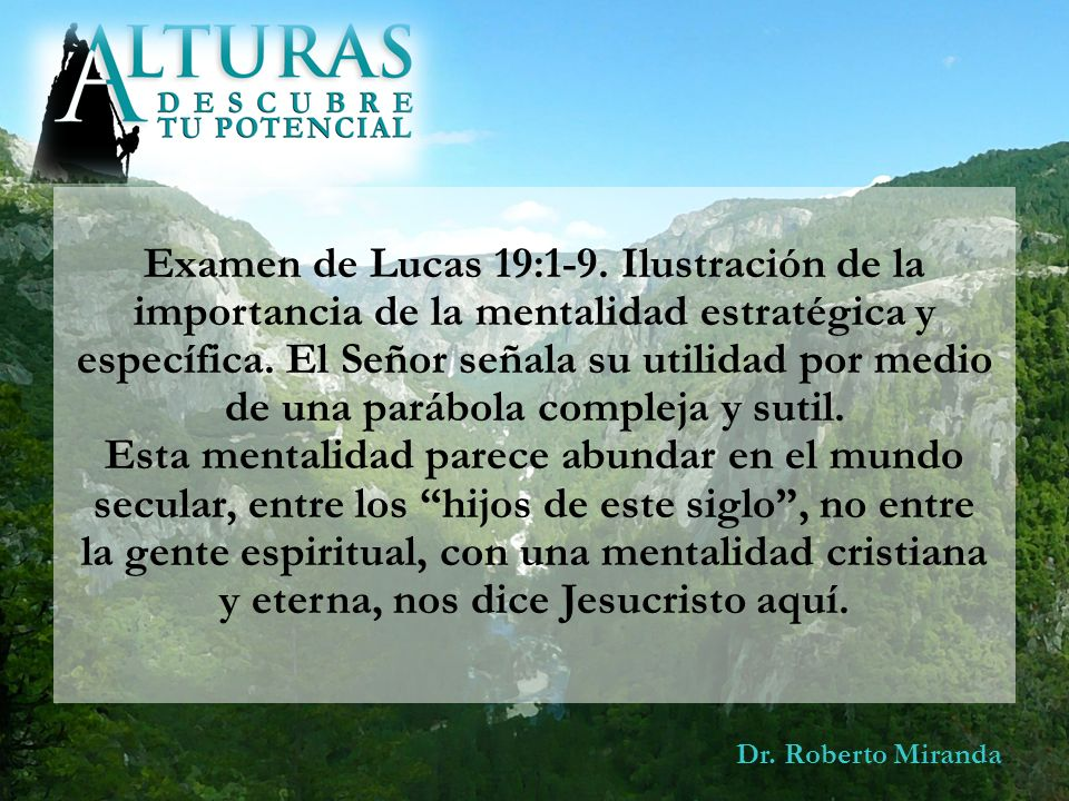 Examen de Lucas 19:1-9. Ilustración de la