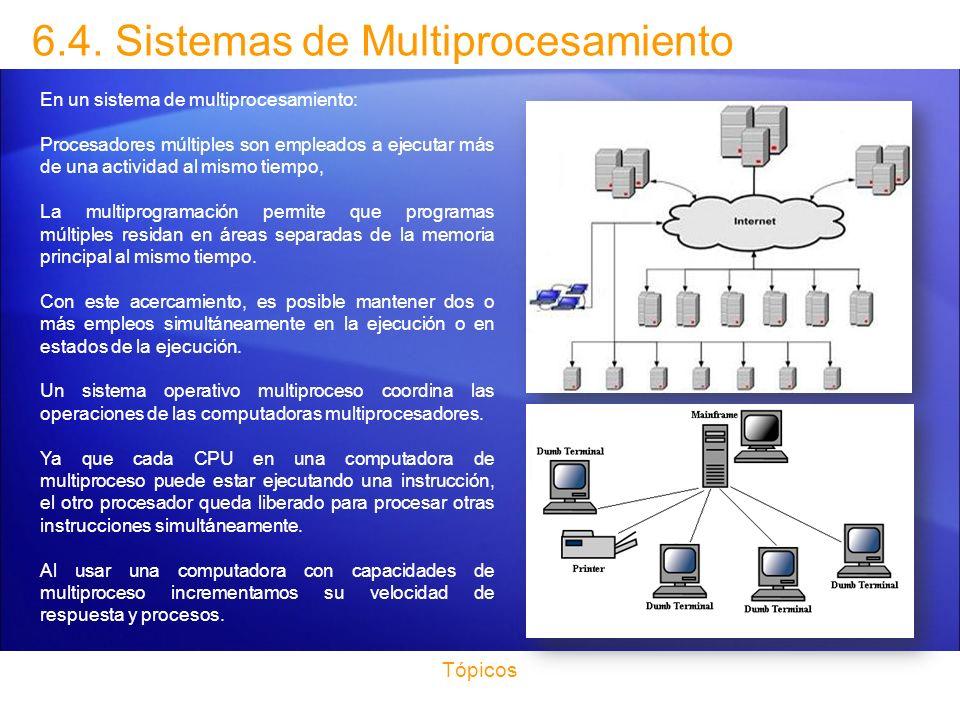 6.4. Sistemas de Multiprocesamiento