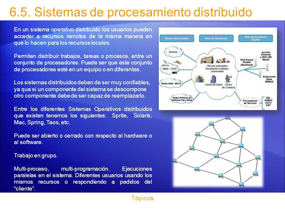 6.5. Sistemas de procesamiento distribuido