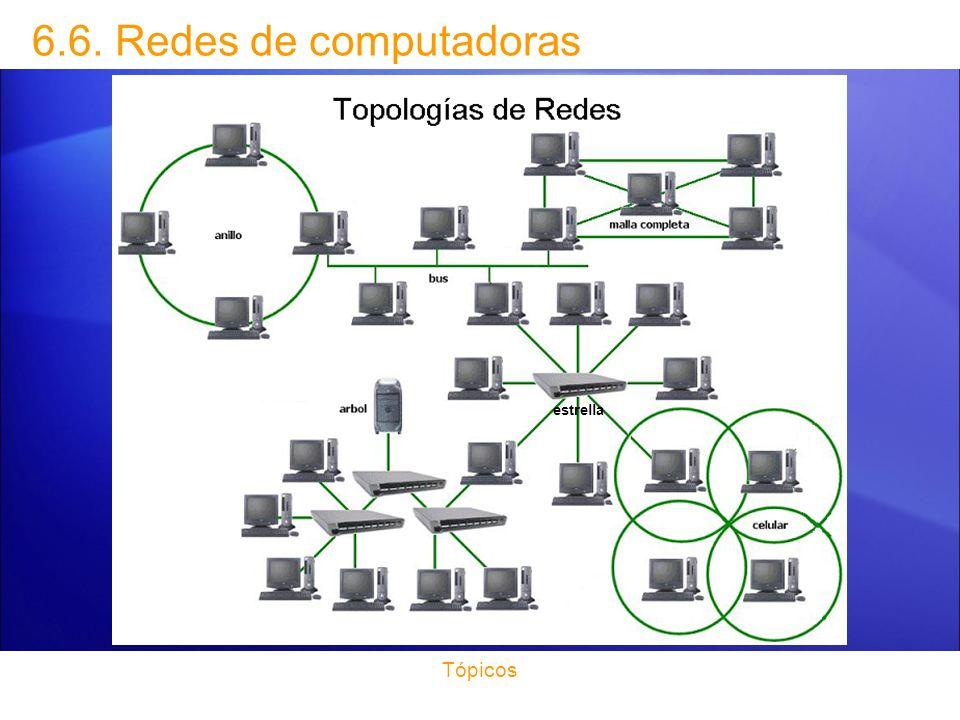 6.6. Redes de computadoras estrella Tópicos