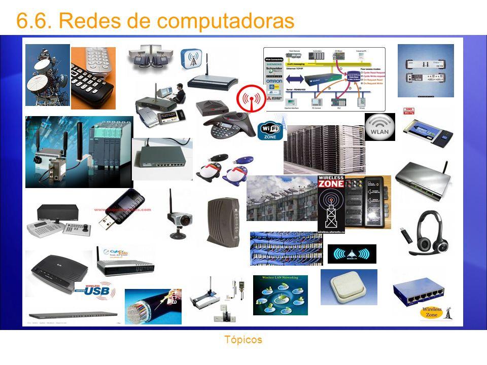 6.6. Redes de computadoras Tópicos Torre de comunicaciones telefono