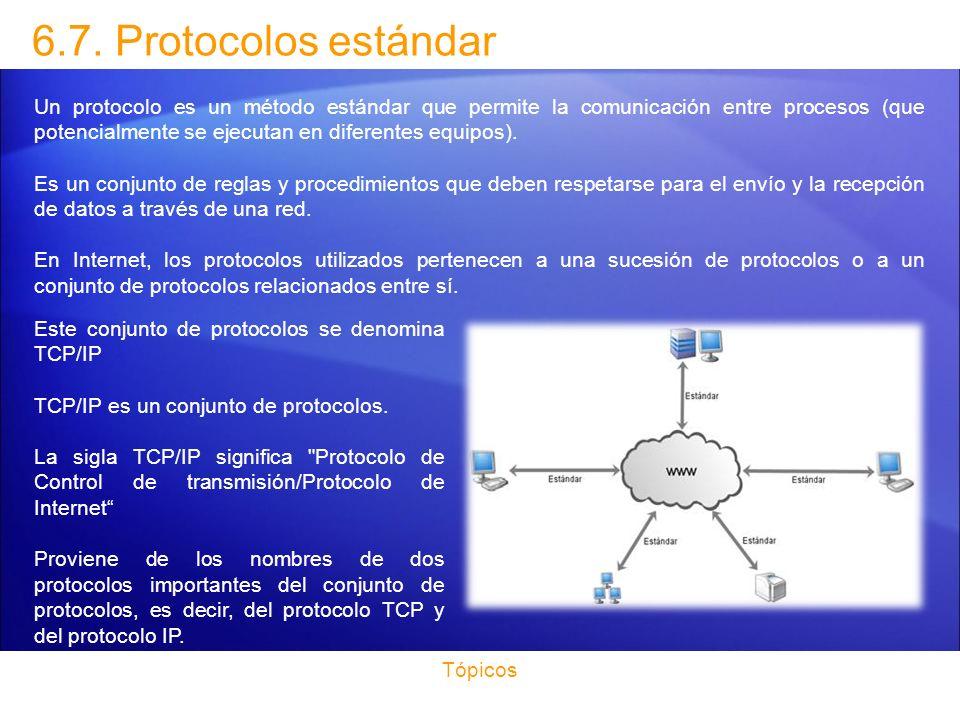 6.7. Protocolos estándar