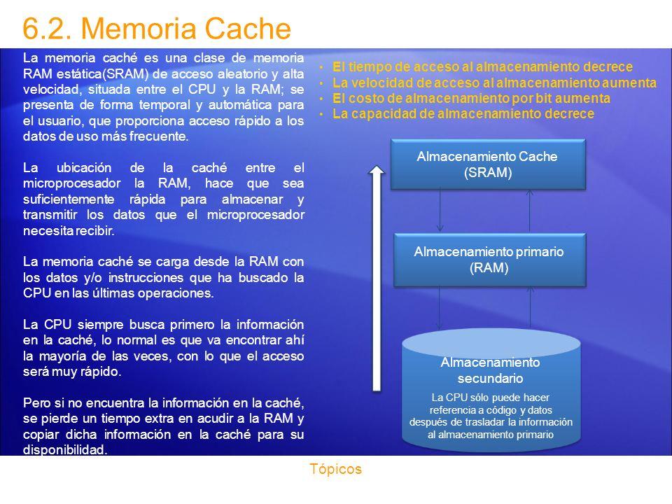 6.2. Memoria Cache