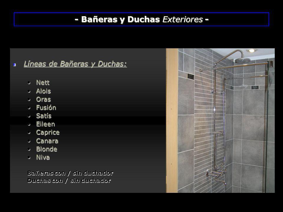 - Bañeras y Duchas Exteriores -