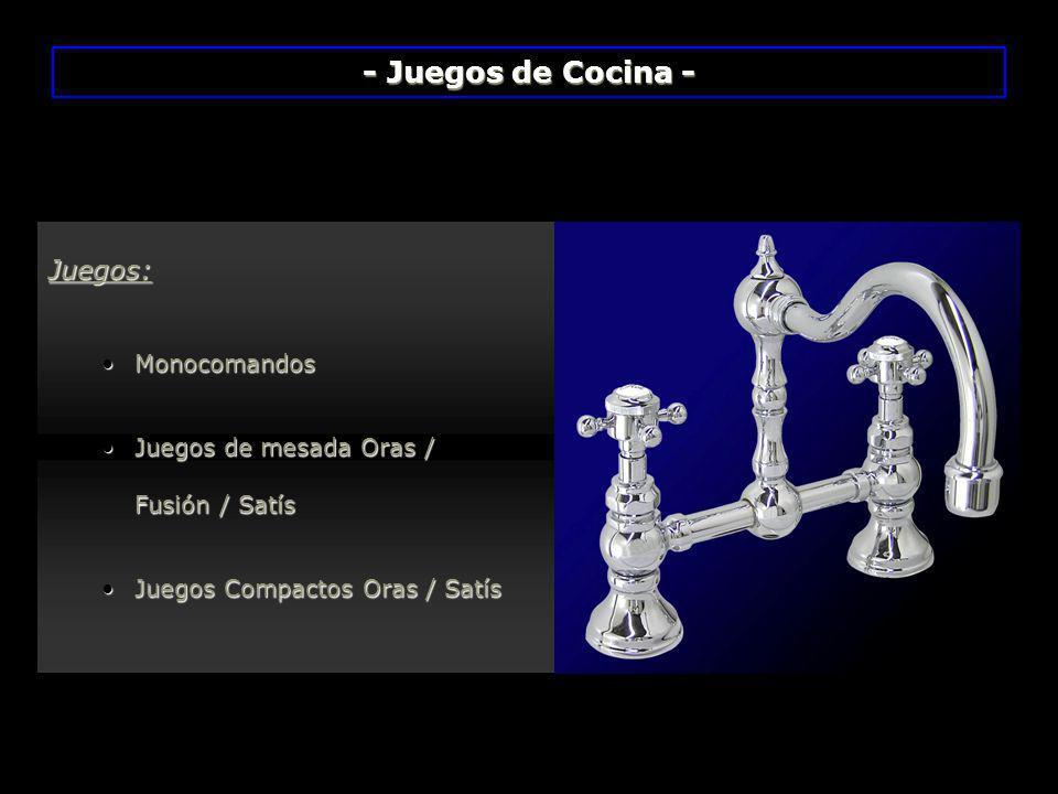 - Juegos de Cocina - Juegos: Monocomandos Juegos de mesada Oras /