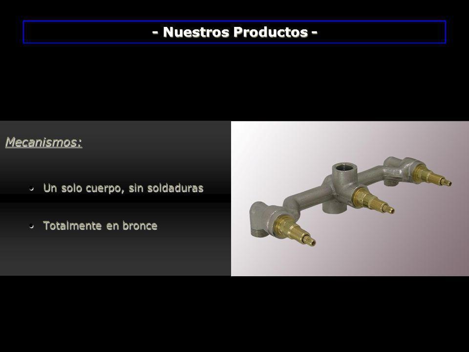 - Nuestros Productos - Mecanismos: Un solo cuerpo, sin soldaduras