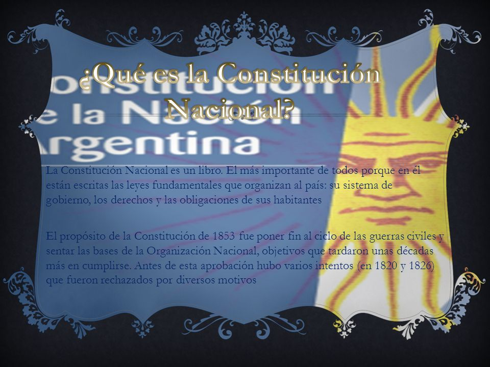 ¿Qué es la Constitución Nacional