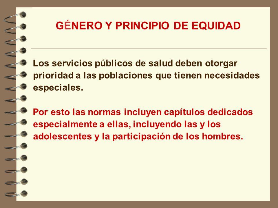 GÉNERO Y PRINCIPIO DE EQUIDAD