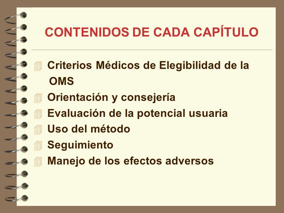 CONTENIDOS DE CADA CAPÍTULO