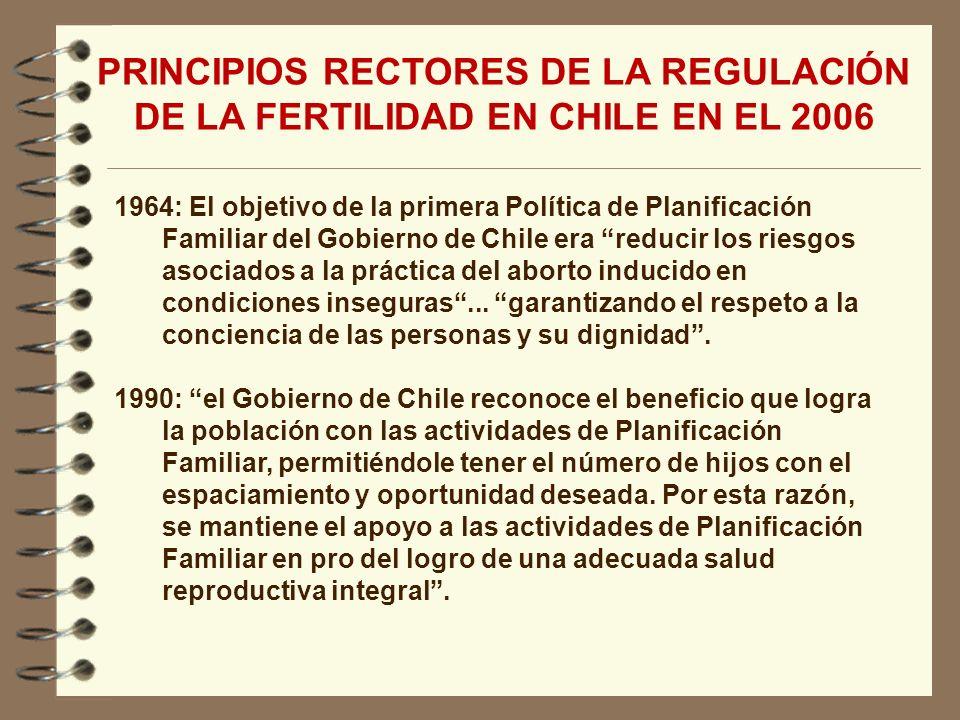 DE LA FERTILIDAD EN CHILE EN EL 2006