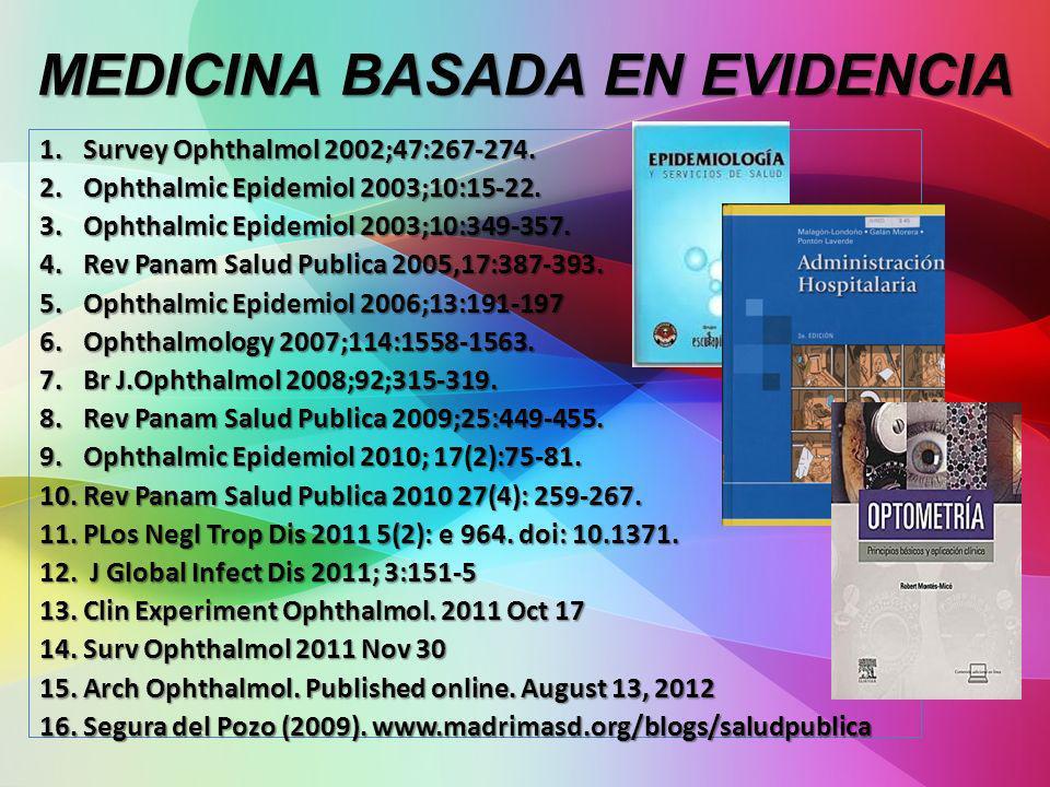 MEDICINA BASADA EN EVIDENCIA