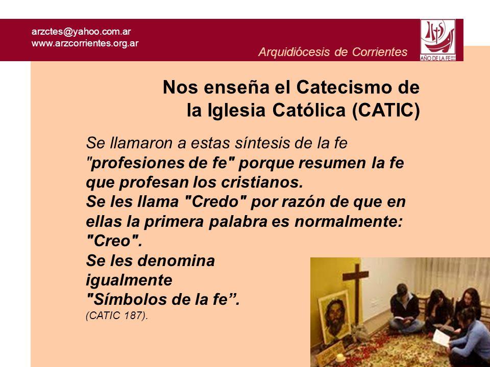 Nos enseña el Catecismo de la Iglesia Católica (CATIC)