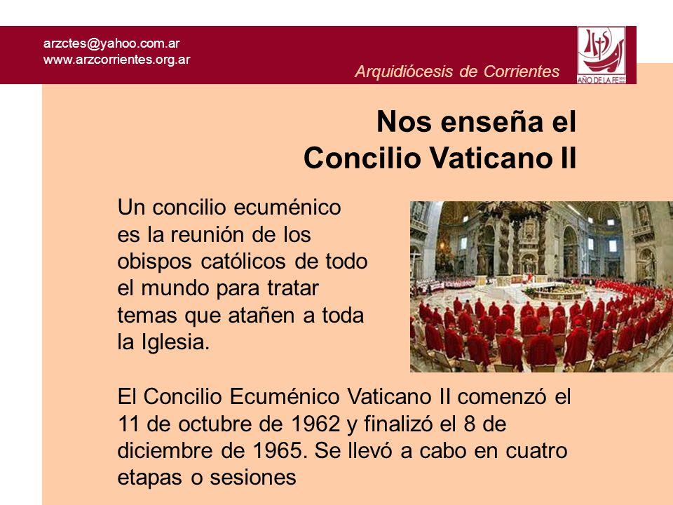 Nos enseña el Concilio Vaticano II