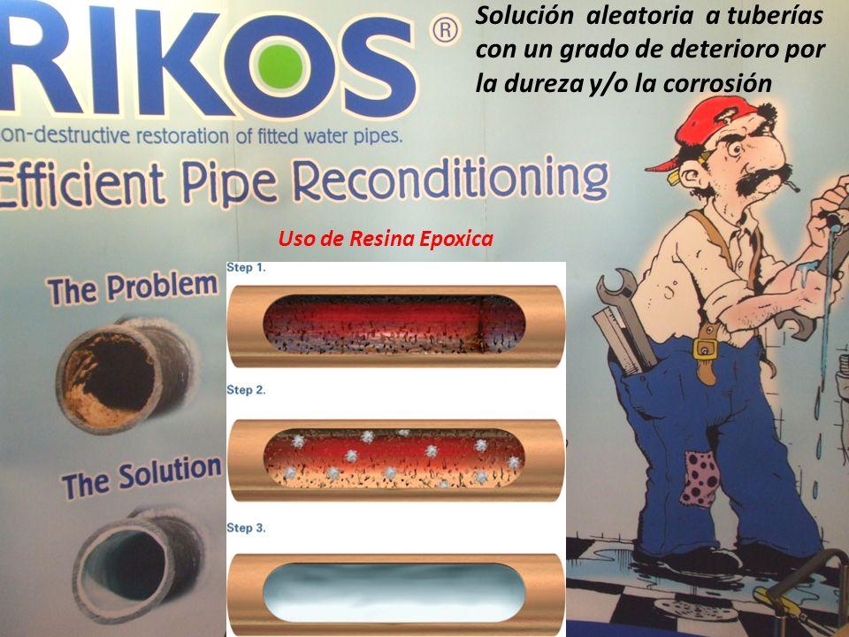 Solución aleatoria a tuberías con un grado de deterioro por la dureza y/o la corrosión