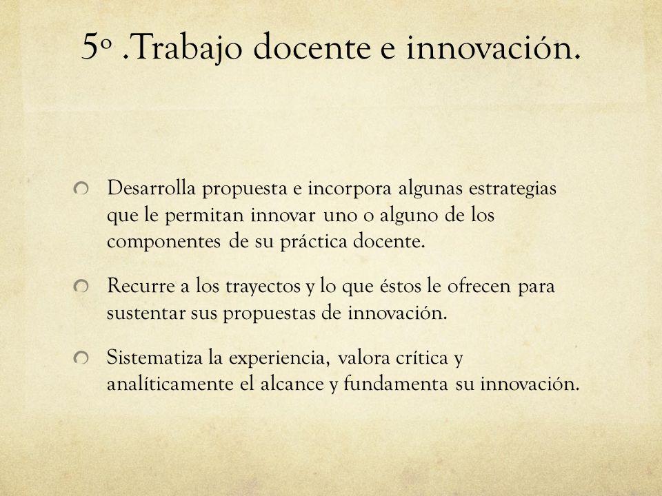 5º .Trabajo docente e innovación.