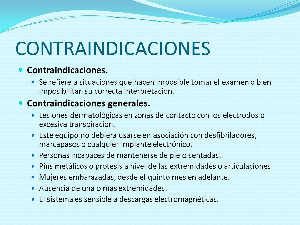 CONTRAINDICACIONES Contraindicaciones. Contraindicaciones generales.