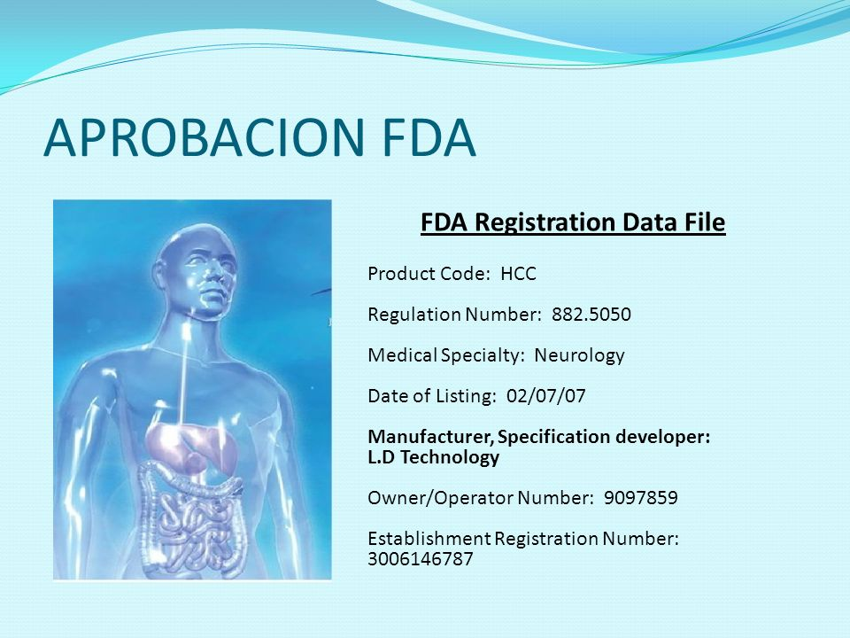 FDA Registration Data File