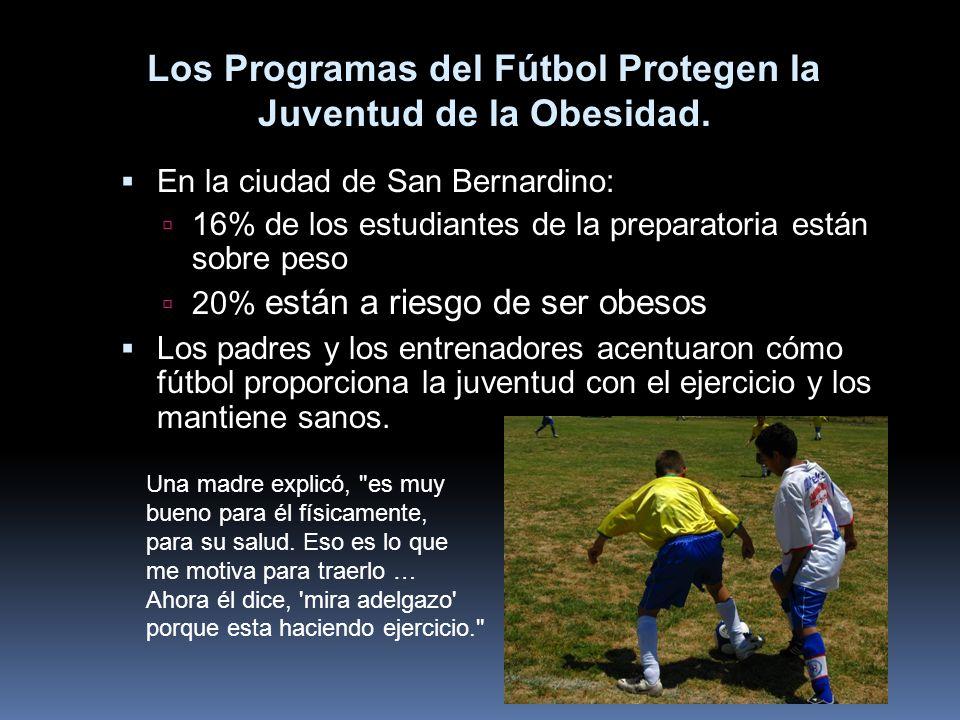 Los Programas del Fútbol Protegen la Juventud de la Obesidad.