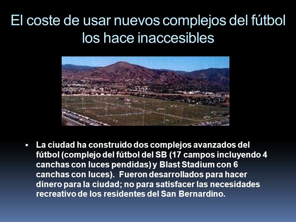 El coste de usar nuevos complejos del fútbol los hace inaccesibles