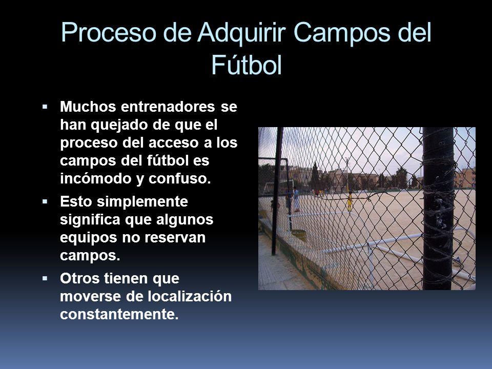 Proceso de Adquirir Campos del Fútbol