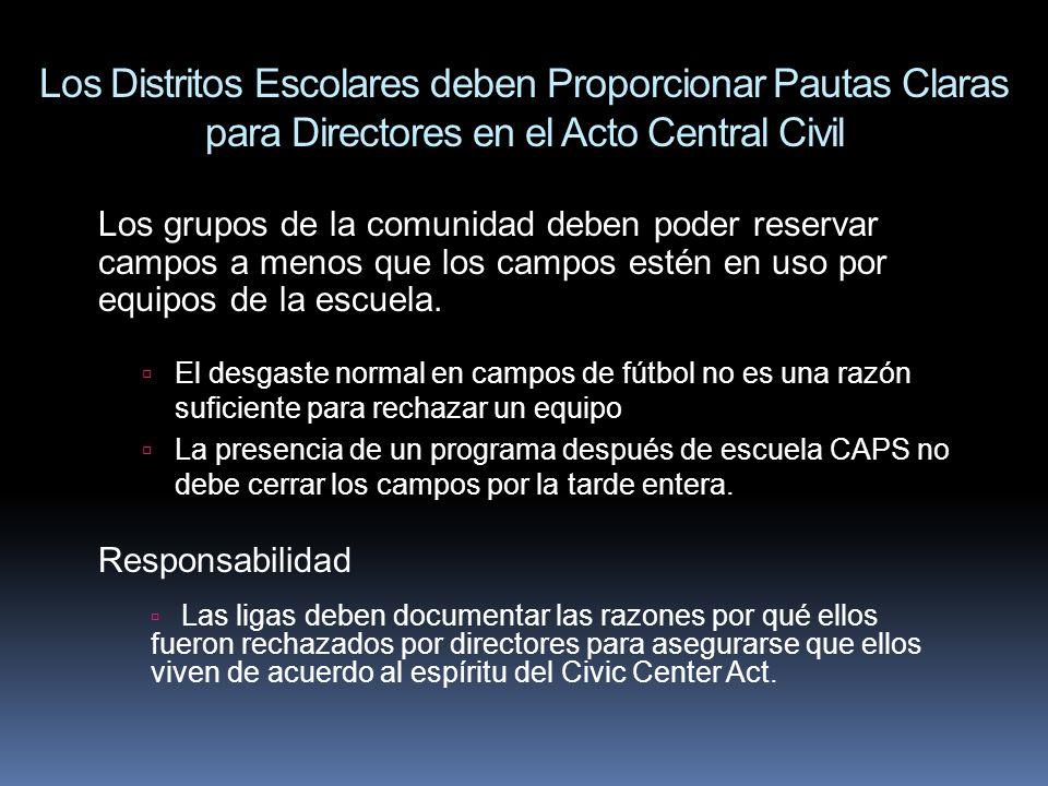 Los Distritos Escolares deben Proporcionar Pautas Claras para Directores en el Acto Central Civil
